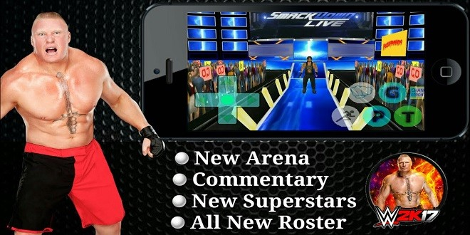 WR3D WWE 2k17 Mod download in android