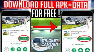 How to Download Cricket Captain 2018 for free in android